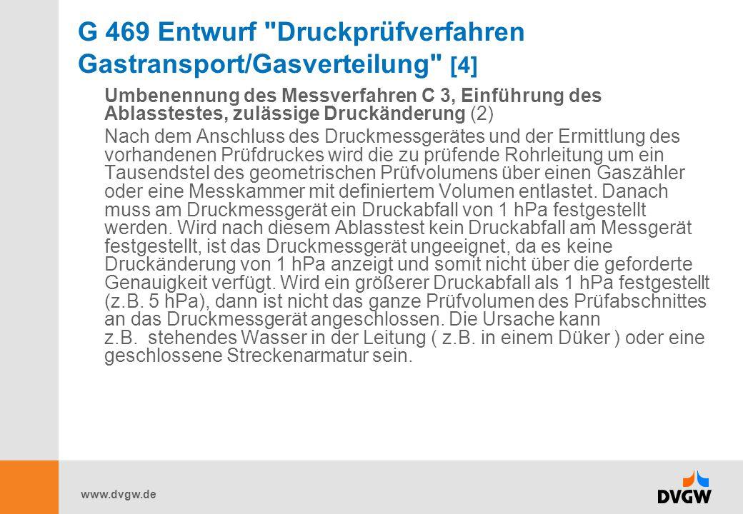 G 469 Entwurf Druckprüfverfahren Gastransport/Gasverteilung [4]